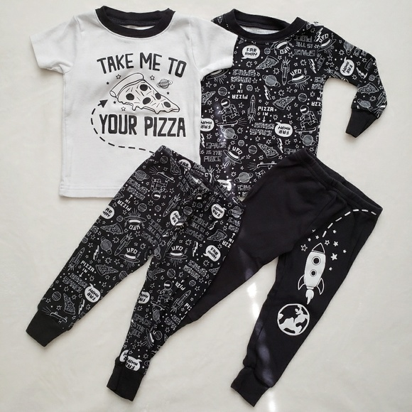 d9c67523ba Carter s Other - Carter s 4-Piece Pizza Glow In The Dark PJ s